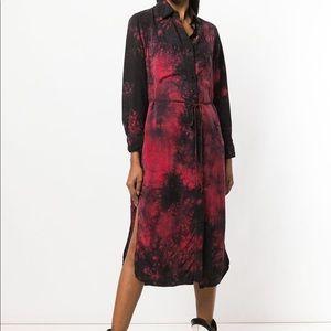 Amiri tie dye long shirt dress